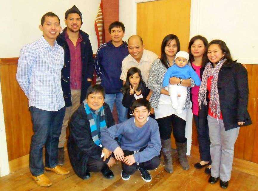Meeting Filipino members of Weston Church