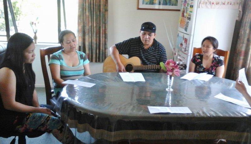 Singing, Sharing, Praying with parents