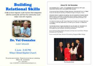 Dr. Val Gonzales lecture