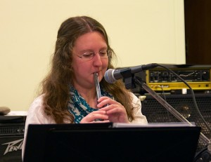 Bethany performing 'Be Thou My Vision' on tin whistle.