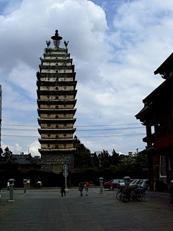 A 1200 year old Buddhist Pagoda off the Square at Kunming, China.  (Photo taken in 2004).