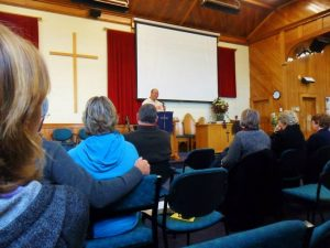 Speaking at Weston Church Oamaru