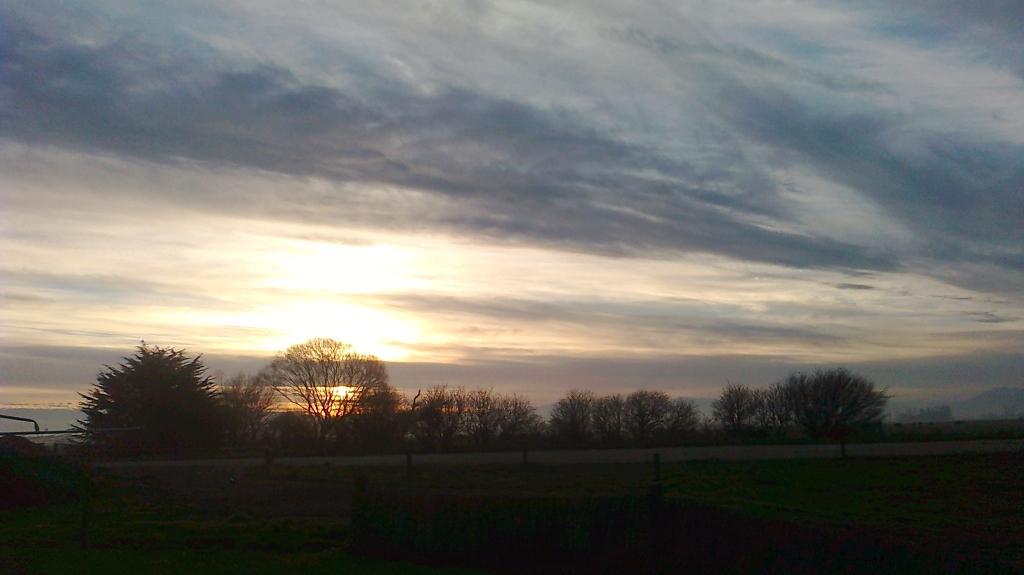 Sunset at Dairy Farm