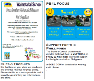 Waimataitai School mufti day for Philippines