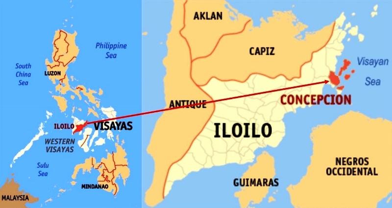 Map of Concepcion Iloilo Philippines