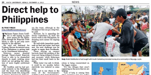 "Read South Canterbury Herald's ""Direct Help to Philippines"" Article"