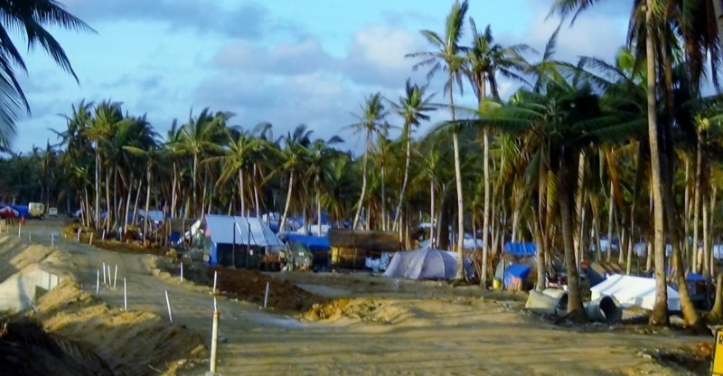 A village in Hernani one month after Typhoon Yolanda.