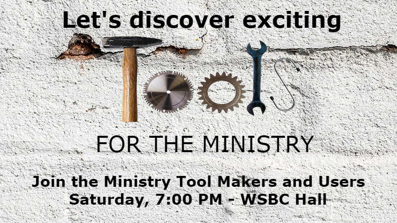 Ministry Tool Makers and Users Invitation