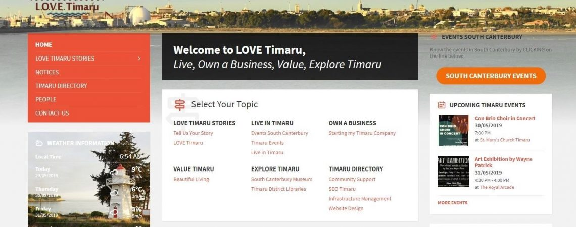 LOVE Timaru – Promoting the New Zealand City We Love