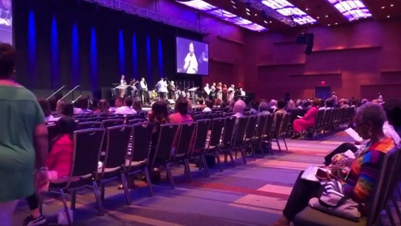 "American Baptist Churches sing ""Let Us Sing Praises"" at the Biennial Mission Summit Worship Service"