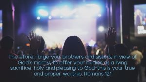 worship is living sacrifice to God