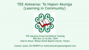 TEE Aotearoa Training Timaru