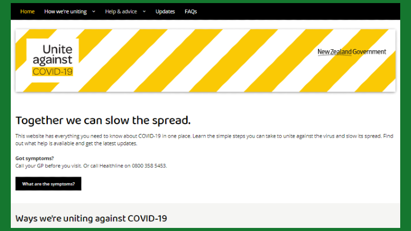 """Get Reliable Info from the """"Unite against COVID-19"""" NZ Govt Website"""