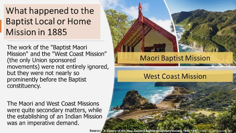 NZ Baptist Mission – Local vs. Foreign Missions